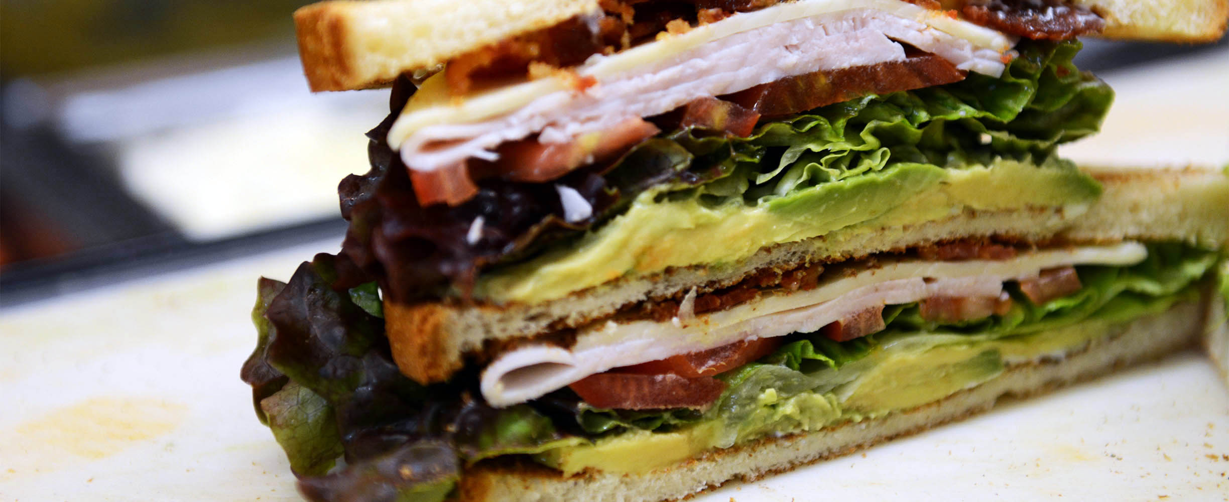 Turkey and avocado sandwich in Palo Alto